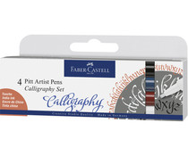 Faber Castell Drawing Pen Pitt Artist Set Caligraphy (4pcs) (FC-167504)