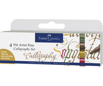 Faber Castell Drawing Pen Pitt Artist Set Calligraphy (4pcs) (FC-167505)