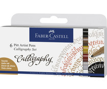 Faber Castell Drawing Pen Pitt Artist Set Calligraphy (6pcs) (FC-167506)