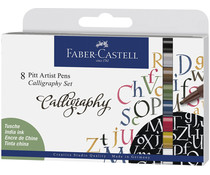Faber Castell Drawing Pen Pitt Artist Set Calligraphy (8pcs) (FC-167508)