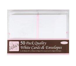 Anita's A6 Cards & Envelopes White (50pk) (ANT 1511020)