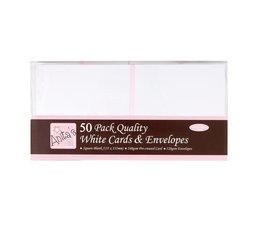 Anita's Square Cards & Envelopes White (50pk) (ANT 1512020)