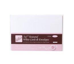 Anita's 5x7 Inch Cards & Envelopes Textured White (20pk) (ANT 1512100)