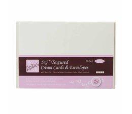 Anita's 5x7 Inch Cards & Envelopes Textured Cream (20pk) (ANT 1512101)