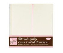 Anita's Tall Cards & Envelopes Cream (50pk) (ANT 1513021)