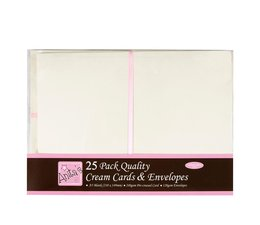 Anita's A5 Cards & Envelopes Cream (25pk) (ANT 1514021)