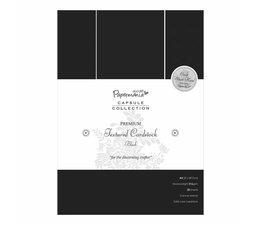 Papermania A4 Premium Cardstock Textured Black (20pcs) (PMA 1641502)