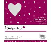 Papermania 12x12 Inch Clear Acetate (10pk) (PMA 1681200)