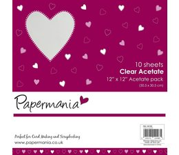 Papermania 12x12 Inch Clear Acetate (10pk) (PMA 1681200)