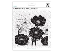 Xcut 6x6 Inch Embossing Folder Full Bloom Helleborus (XCU 515238)