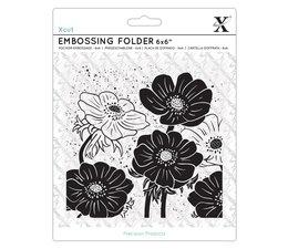 Xcut Embossing Folder 6x6 Inch Full Bloom Helleborus (XCU 515238)