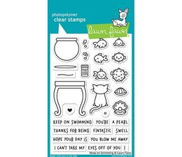Lawn Fawn Keep on Swimming Clear Stamps (LF1955)