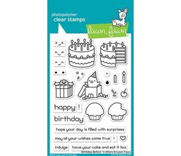 Lawn Fawn Birthday Before 'n Afters Clear Stamps (LF1958)