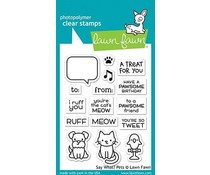 Lawn Fawn Say What? Pets Clear Stamps (LF1962)