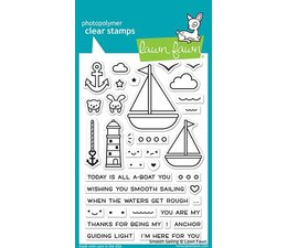 Lawn Fawn Smooth Sailing Clear Stamps (LF1965)