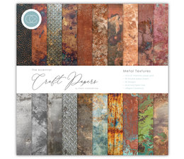 Craft Consortium Essential Craft Papers 12x12 Inch Paper Pad Metal Textures (CCEPAD005)