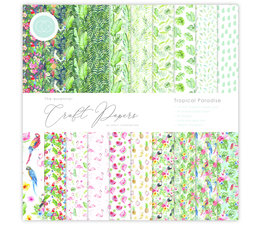 Craft Consortium Essential Craft Papers 12x12 Inch Paper Pad Tropical Paradise (CCEPAD006)