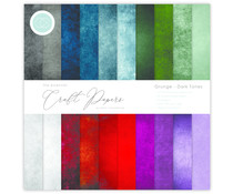 Craft Consortium Essential Craft Papers 12x12 Inch Paper Pad Grunge Dark Tones (CCEPAD007)