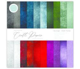 Craft Consortium Essential Craft Papers 12x12 Inch Paper Pad Grunge Dark Tones (CCEPAD007)