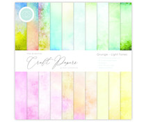 Craft Consortium Essential Craft Papers 12x12 Inch Paper Pad Grunge Light Tones (CCEPAD008)