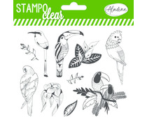 Aladine Tropical Birds Clear Stamps (04233)