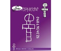 By Lene Hopscotch Cutting & Embossing Dies (BLD1183)
