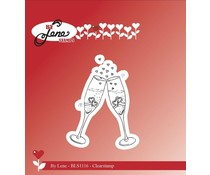 By Lene Champagne Glass Clear Stamp (BLS1116)