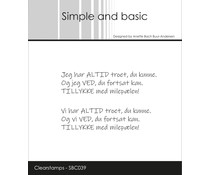 Simple and Basic Danish Texts 6 Clear Stamps (SBC039)
