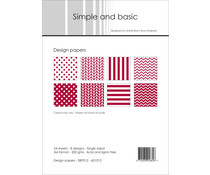 Simple and Basic Dark Red 2 A6 Paper Pack (SBP012)