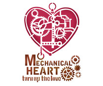 Stamperia Stencil A5 Mechanical Heart (KSD285)