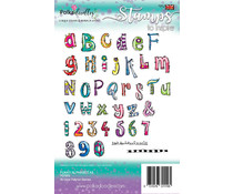 Polkadoodles Funky Alphabet A5 Clear Stamps (PD7879)