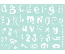 Polkadoodles Funky Alphabet A5 Stencil (PD7909)