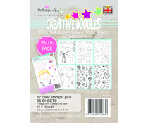 Polkadoodles Creative Doodles Making Faces A5 Stamp & Card Kit (PD7913)