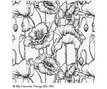 My Favorite Things Poppies Background Stamp (BG-103)