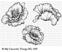 My Favorite Things Poppy Blooms Cling Stamps (BG-109)