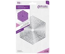 Gemini Torn Edge Hexagon Elements Dies (GEM-MD-ELE-TEHX)