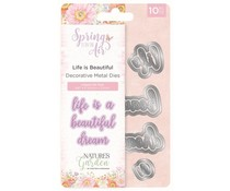 Crafter's Companion Spring is in the Air Metal Die Life is Beautiful (NG-SPRIN-MD-LIB)