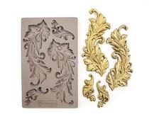 Prima Marketing Baroque Swirls 5x8 Inch Mould (635725)