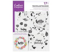 Crafter's Companion Spring Wreath Clear Stamps (CC-STP-SPRW)