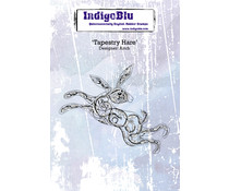IndigoBlu Tapestry Hare A6 Rubber Stamp (IND0543)
