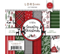 LDRS Creative Country Christmas 6x6 Inch Paper Pack (3109)