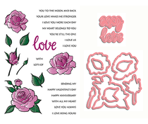 LDRS Creative Love and Smell the Roses Stamp & Die Set (3122)