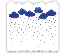 LDRS Creative Rainy Day 6x6 Inch Stencil (3158)