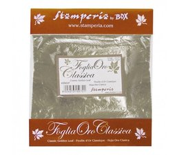 Stamperia Classic Golden Leaf Sheets Silver (KER02F)