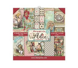Stamperia Alice 8x8 Inch Paper Pack (SBBS01)