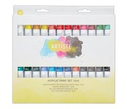 Docrafts Acrylic Paint Set 12ml (24pk) (DOA 551001)