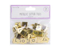 Dovecraft Gold Chipboard Letter Tiles (DCBS223)