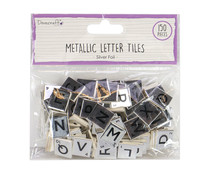 Dovecraft Silver Chipboard Letter Tiles (DCBS224)