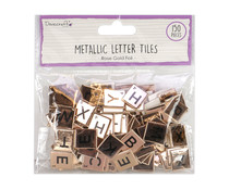 Dovecraft Rose Gold Chipboard Letter Tiles (DCBS225)