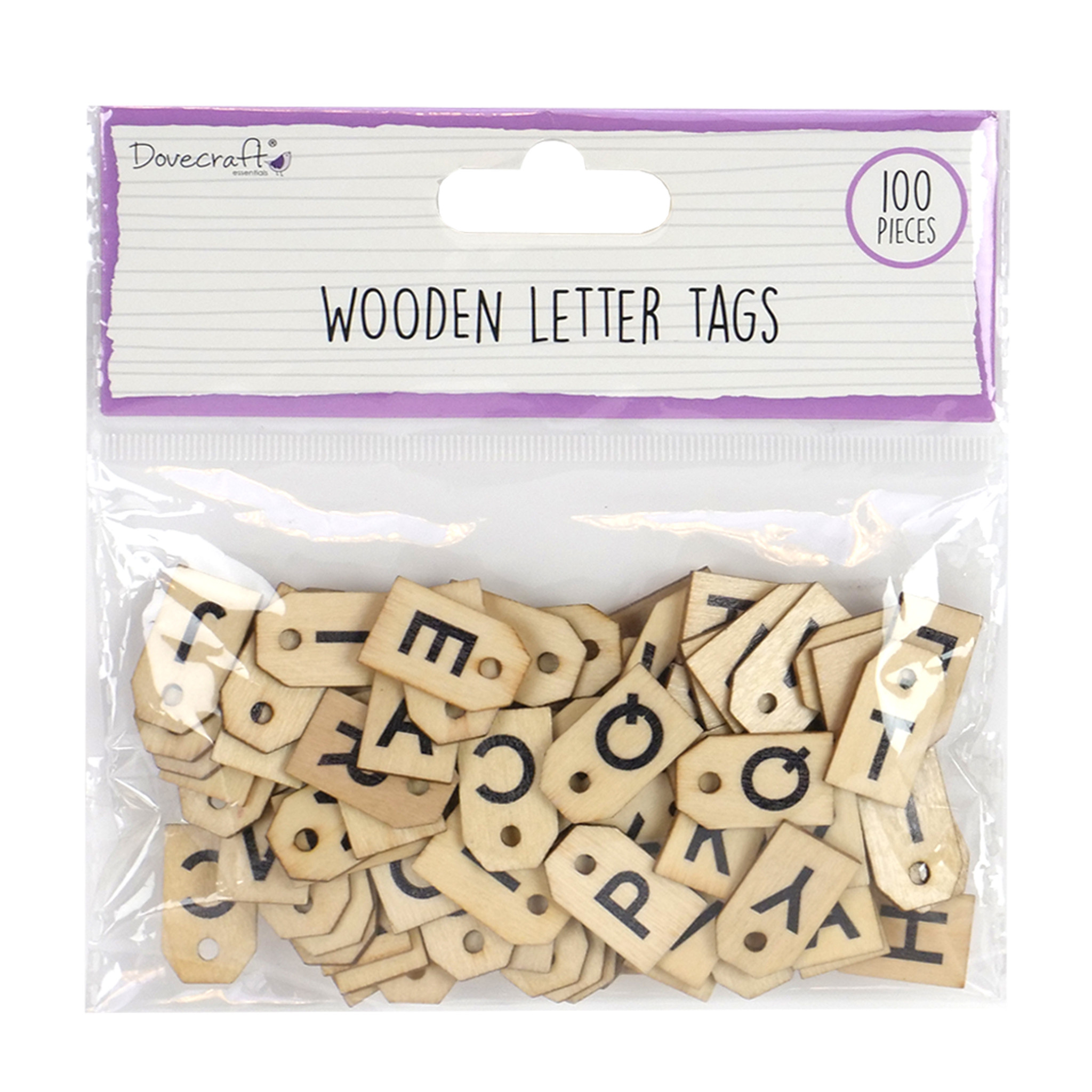 Wooden Letter Tags (DCBS215) - Craftlines